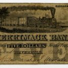 Haverhill, Merrimack Bank, $5, 1857