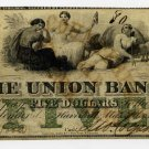Haverhill, Union Bank, $5, 1862, Unlisted Variety