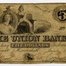 Haverhill, Union Bank, $5, 1864, Unlisted Variety