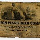 Michigan City, Union Plank Road Company, $5, 1860