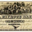 Bloomington, Lafayette Bank, $5, 1858