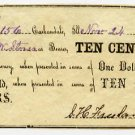 Carbondale, S.H. Freeland, 10 Cents, Nov 24, 1862