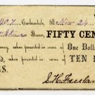 Carbondale, S.H. Freeland, 50 Cents, Nov 24, 1862