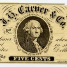 Illinois, Meredosia, JH Carver & Co., 5 Cents, November 1, 1863