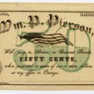 Illinois, Onarga, Wm. P. Pierson, 50 Cents, Nov 1, 1862