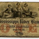 Illinois, Oxford, Mississippi River Bank, $1, Oct 21, 1860