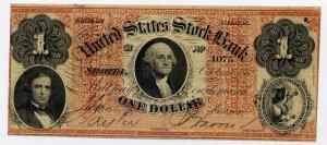 Illinois, Sparta, United States Stock Bank, $1, October 1, 1860