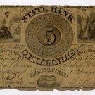 Illinois, Springfield, State Bank of Illinois, $5, 1838, Chicago
