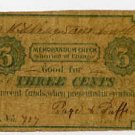 Lowell, Page and Puffer, 3 Cents, 1860s