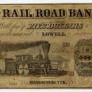 Lowell, Rail Road Bank, $5, 1857