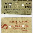 Lowell, Samuel Wood, 5 Cents, 1863