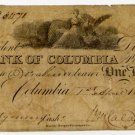 Columbia, Bank of Columbia, $1, April 1, 1819