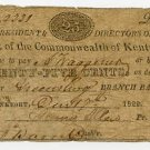 Frankfort, Bank of the Commonwealth of Kentucky, 25 Cents, Dec 17, 1822