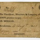 Henderson, Bank of Henderson, $1, Aug 4, 1818