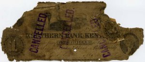 Barboursville, Lexington, Northern Bank of Kentucky, $1, Sept 12?, 1856