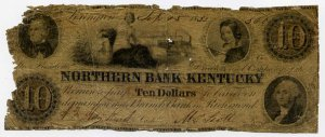 Richmond, Lexington, Northern Bank of Kentucky, $10, Sept 15, 1852