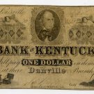 Danville, Louisville, Bank of Kentucky, $1, August 15, 1856