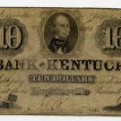 Hopkinsville, Louisville, Bank of Kentucky, $10, August 15, 1856