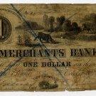 New Bedford, Merchants Bank, $1, October 20, 1854