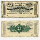 North Abington, JM Culver & Co., 25 Cents, November 18, 1862