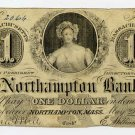 Northampton, Northampton Bank, $1, May 25, 1863