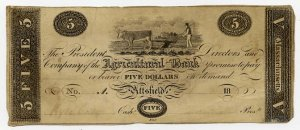 Pittsfield, Agricultural Bank, $5, 1817?