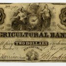 Pittsfield, Agricultural Bank, $2, Nov 18, 1856
