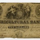Pittsfield, Agricultural Bank, $10, Nov 18, 1855?