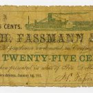 Louisiana, New Orleans, H Fassmann & Co., 25 Cents, 1862