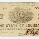 Louisiana, Shreveport, State of Louisiana, $1, 1864