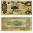 Louisiana, Shreveport, State of Louisiana, $50, 1863