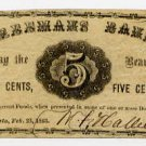 Maine, Augusta, Freeman's Bank, 5 Cents, 1863