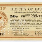 Maine, Eastport, City of Eastport, 50 Cents, 1935