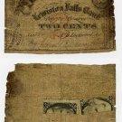 Maine, Lewiston, Androscoggin Mills, 2 Cents, 1862