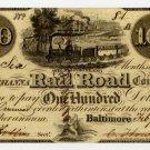Baltimore and Susquehanna Rail Road Company, $100, 1838