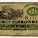 Greensborough, Farmers and Merchants Bank, $1, August 15, 1862