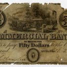 Millington, Commercial Bank of Millington, $50, Oct 23, 1839