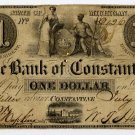 Michigan, Constantine, Bank of Constantine, $1, July 1, 1837