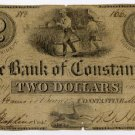 Michigan, Constantine, Bank of Constantine, $2, May 3, 1837