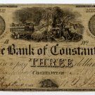 Michigan, Constantine, Bank of Constantine, $3, May 3, 1837