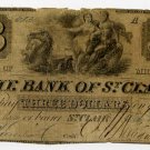 Michigan, St. Clair, Bank of St. Clair, $3, Jan 1, 1842