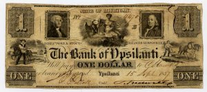 Michigan, Ypsilanti, Bank of Ypsilanti, $1, Sept 15, 1837