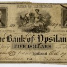 Michigan, Ypsilanti, Bank of Ypsilanti, $5, Oct 7, 1836
