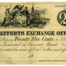 New York, Brooklyn, R. Lefferts Exchange Office, 25 Cents, 1850s