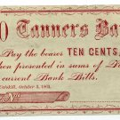 New York, Catskill, Tanners Bank, Joshua Fiero, 10 Cents, October 3, 1862