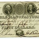 New York, New York, Marble Manufacturing Company, $50, April 7, 1826