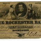 New York, Rochester, Rochester Bank, $10, March 9, 1853