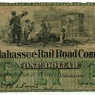 "Florida, Tallahassee Rail Road Company, $1, Fraudulent 1893 ""Issue"" date"