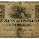 Florida, Pensacola, Bank of Pensacola, $2, Feb 4, 1840
