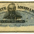Louisiana, Shreveport, State of Louisiana, $20, March 10th, 1863